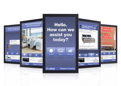 bedshed 42display mock with media player