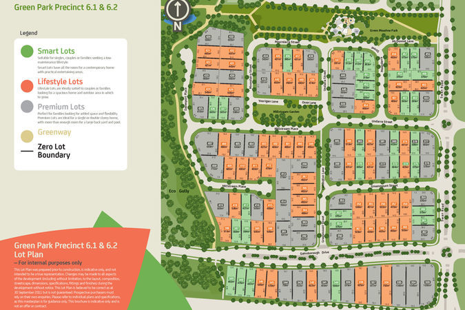 green park 61 62 combined lot plan