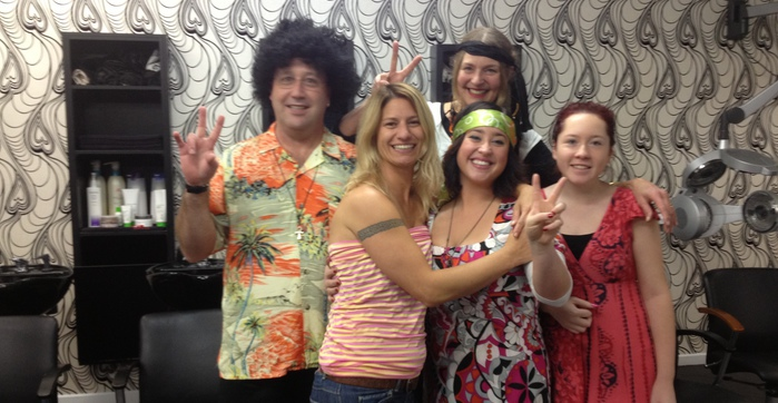 team as hippies