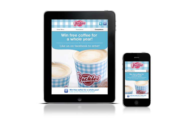resturant mock puckles tablet mobile mock